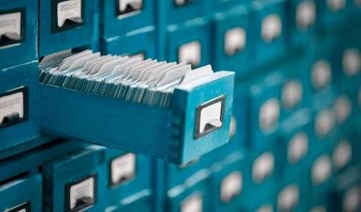 Archiv - Karteikarten